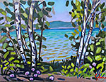 Birches on the Lake II